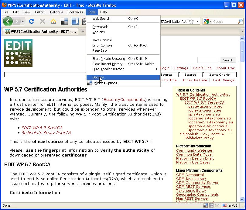 Firefoximportcacertificates Edit Redmine